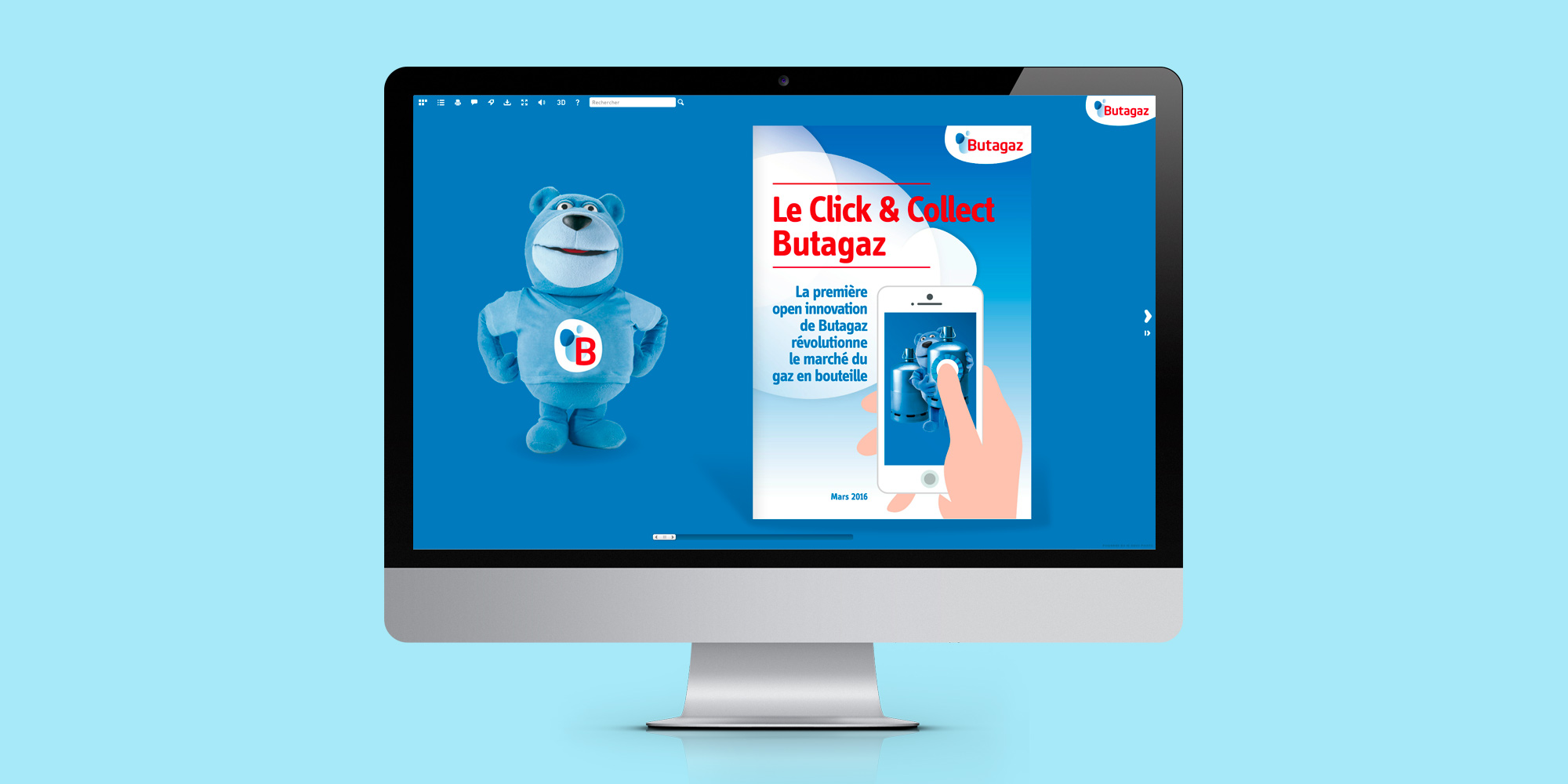 Butagaz - Click & Collect - dossier de presse digital - home - IDDP